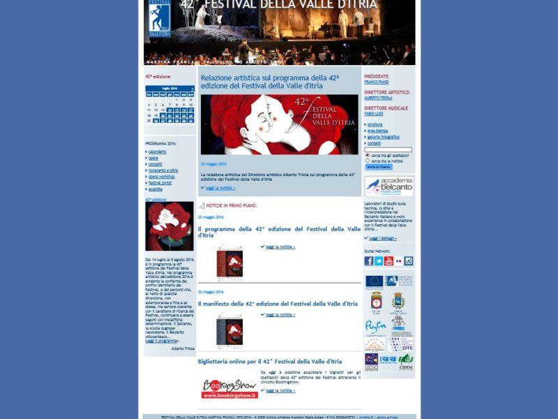 Festival della Valle d'Itria, sito a cura di EONE | essereononessereonline.it Srl
