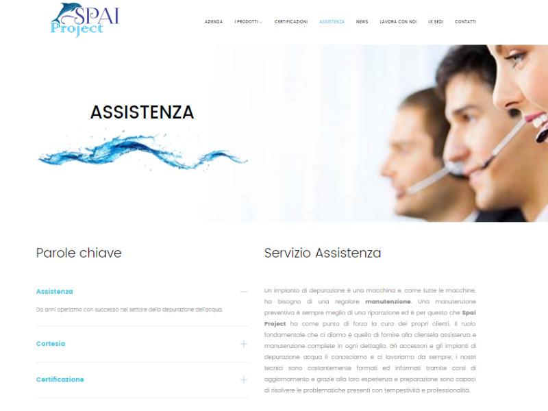 Spaiprogect pagina assistenza