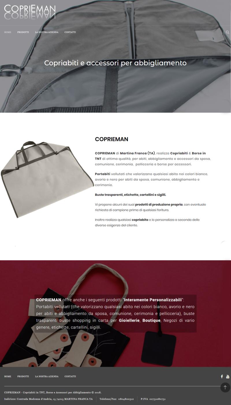 Realizzazione siti internet Martina Franca Taranto ,Video, Foto, SEO , E-commerc- Copriabito