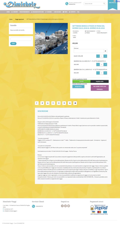 Realizzazione siti internet Martina Franca Taranto ,Video, Foto, SEO , E-commerce dimicheleviaggi