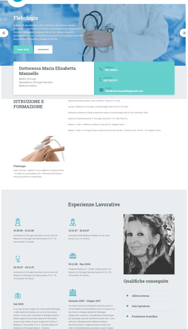 Essere o non essere on line Portfoglio siti web - Dott.ssa Elisabetta Mannello