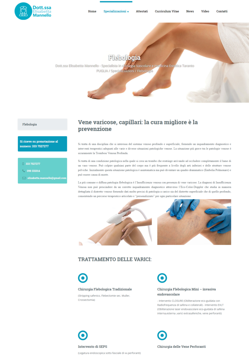 Realizzazione siti internet Martina Franca Taranto ,Video, Foto, SEO , E-commerce - Dott.ssa Elisabetta Mannello