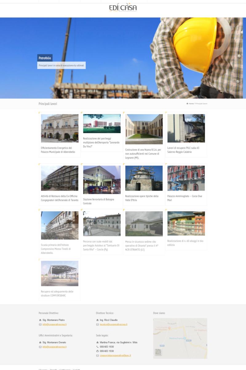 Realizzazione siti internet Martina Franca Taranto ,Video, Foto, SEO , E-commerce- Edil Casa Soc. Coop.