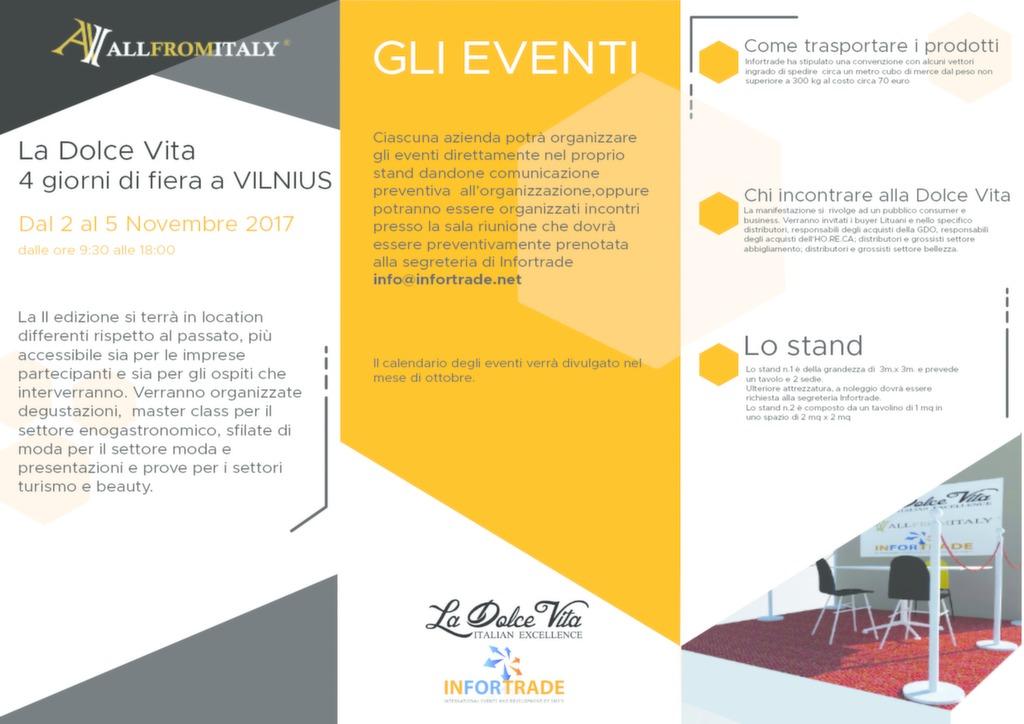 Calendario Eventi Martina Franca.La Dolce Vita Fiera A Vilnius Realizzazione Siti